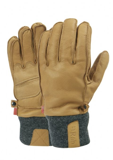 Rab Mens Treeline Glove - Leather, Waterproof, Hard Wearing